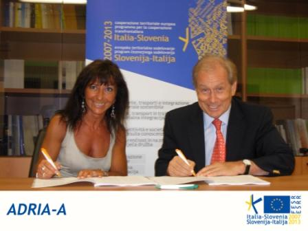 Trieste, 15.07.2010 - ADRIA-A SUBSIDY CONTRACT